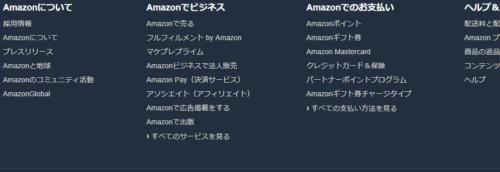 Amazonサイトマップ(例)