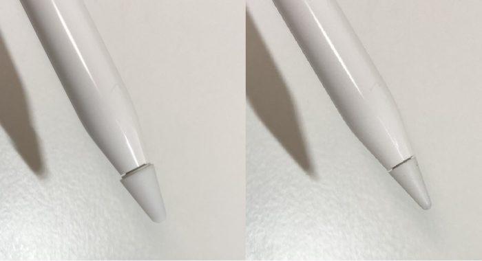 PZOZ Apple Pencil ペン先保護カバー 着用 比較